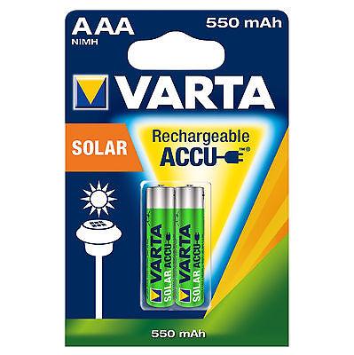 Varta Phone Solar Akku Accu Batterien AA  AAA Mignon Micro Markenqualitä