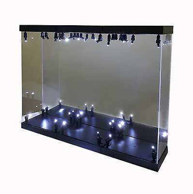 Mb 3 Acrylic Display Case Led Light Box For Three 12 1 6