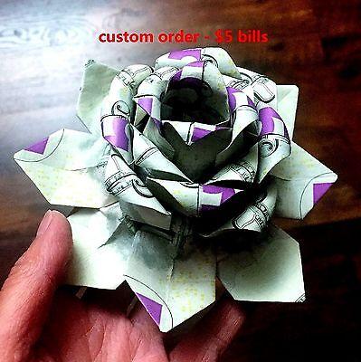 Lotus Flower Money Origami Flowers Healthy