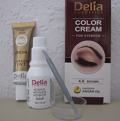 Delia Henna Cream Eyebrow Eyelashes Professional Colour Tint Kit Set