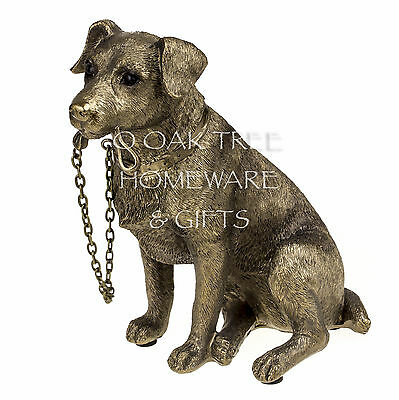 Jack Russell Terrier Statue Bronze Dog Ornament Dog Memorial Figurine Boxed 2