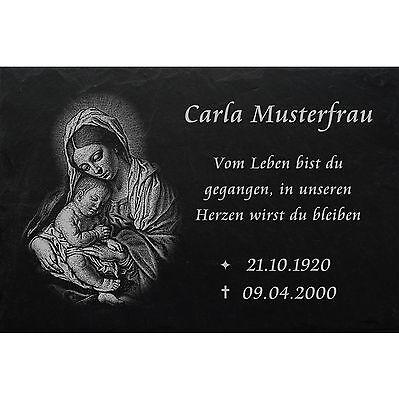 Grabstein Nachruf Gedenkstein Jagd 01► Gravur mit Inschrift + Motiv◄ 35 x 25 cm 3