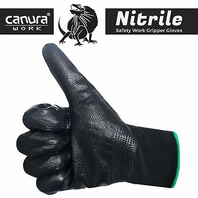 12 24 Pairs Work Gloves Nitrile Coated General Purpose Garden Hand Protection 4