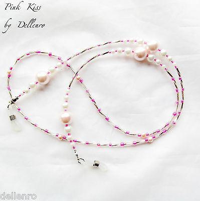 ✫Pink Kiss✫ Beaded Eyeglass Glasses Spectacles Chain Holder Cord