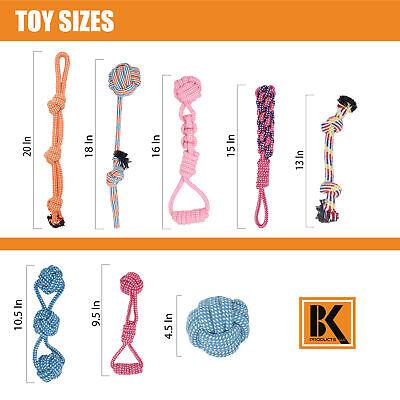 Dog Toys - 8 Large Dog Rope Toys for Medium and Large Dogs- BK 3