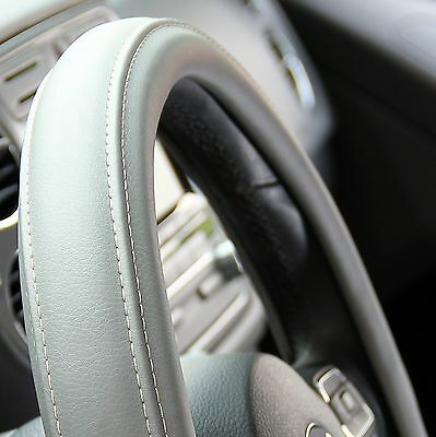 NEW GREY PVC Leather Steering Wheel Cover Acura Audi A Integra Cm - Acura steering wheel cover