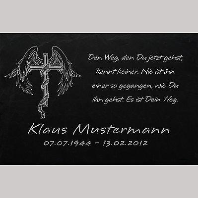 Grabsteine Antiquitäten & Kunst Motiv◄ 30 x 20 cm Grabstein GRABPLATTE Gedenkplatte Biker 02►Gravur Ihr Text