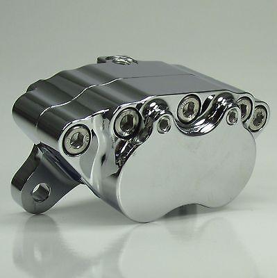 Polished Ultima 4 Piston Caliper w// Pads for Harley Models /& Custom Applications