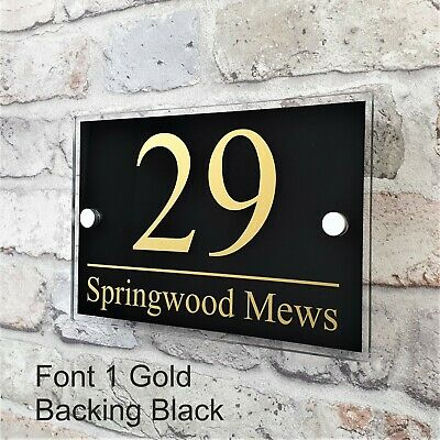 Contemporary House Sign Address Plaques Door Number Name Plates Personalised 8