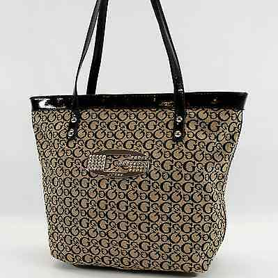 ... Guess Authentic Tansy Black beige Signature Tote Bag Handbag Purse New 3 56b5f49408492