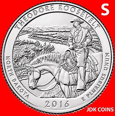 2016 Pds Theodore Roosevelt National Park (Nd) Three Quarters Set Uncirculated 4