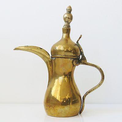 "Copper Antique 11"" Dallah Arabic Middle East Kettle Pot Marked 9"