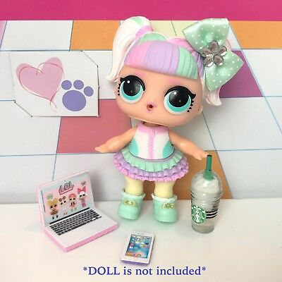 4 PC LOL Accessories Surprise Doll Starbucks Clothes Lot *Doll Not Included* 3