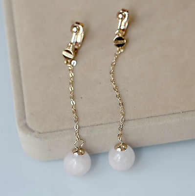 1 Paire Pretty 8-9 mm Naturel Akoya Cultured Pearl Argent Clous D/'Oreilles