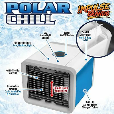 Portable Air Cooler Conditioner NEW Cool Cooling For Bedroom Mini Fan AU 3