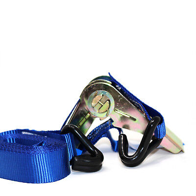 HEAVY DUTY RATCHET TIE DOWN STRAP 4M x 25MM WITH CHASSIS HOOK TIE DOWN STRAPS 5