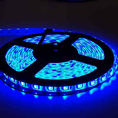 5050 RGB 5M 300 LEDS SMD LED Strip Light 12V Waterproof 24 KEY IR Controller 9
