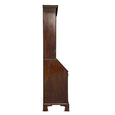 George Iii Period Mahogany Bureau Bookcase 4