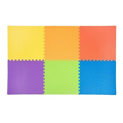 IncStores 24 SQFT Rainbow Play Interlocking Foam Floor Puzzle Mat - 6 Tiles 2