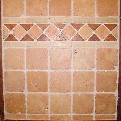 Sample of Vanilla Cream Tumbled Marble Wall /& Floor Tile 10 x 10cm
