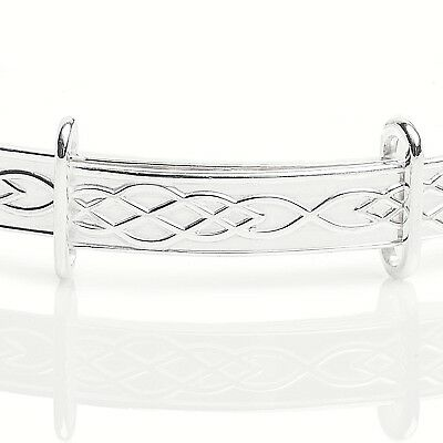 Personalised 925 Sterling Silver Baby Christening Bangle Bracelet Any Name 5