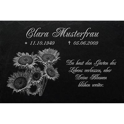 Motiv◄ 30 x 20 cm Grabstein GRABPLATTE Gedenkplatte Biker 02►Gravur Ihr Text Historische Baustoffe