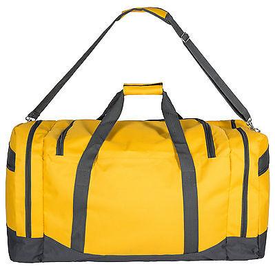 Sac de sport fitness football randonnée voyage transport 90L 70x35x35cm jaune 5