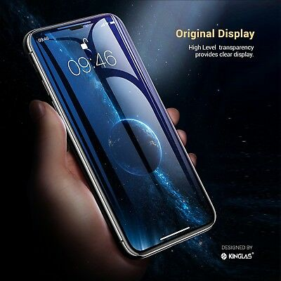 2 X iPhone XS Max XR X Full Coverage Tempered Glass Screen Protector for Apple 9