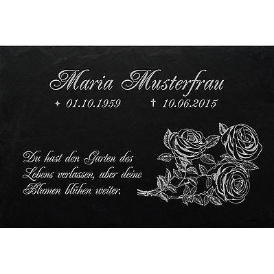 GRABPLATTE Maria Grabmal Grabschmuck Grabstein-028 ► Wunschgravur ◄ 40 x 25 cm