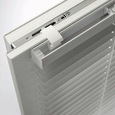 Alu Jalousie Aluminium Jalousette Klemmträger Fenster Rollo Lamelle Weiß Silber 7
