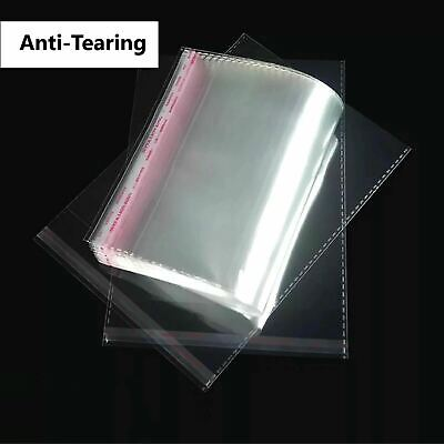 Self Adhesive Sealing Clear OPP Cellophane Resealable Plastic Bags C6 A5 A4 A3 10