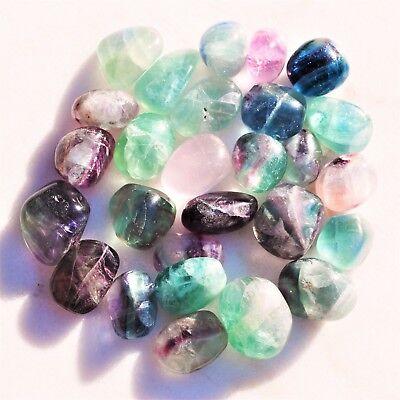 "Brazilian Rainbow Fluorite Crystal Perfect Pendant™ + 20"" Silver Chain WOW! 7"