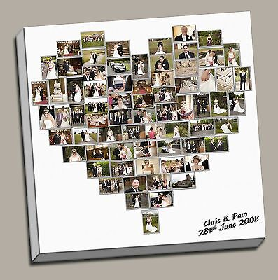 birthday present gift heart collage canvas print picture custom