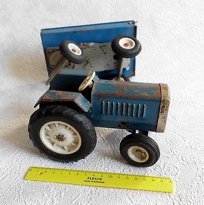 Plaste Anhänger ca.1970 RAR DDR Spielzeug Traktor Fortschritt ZT Blech