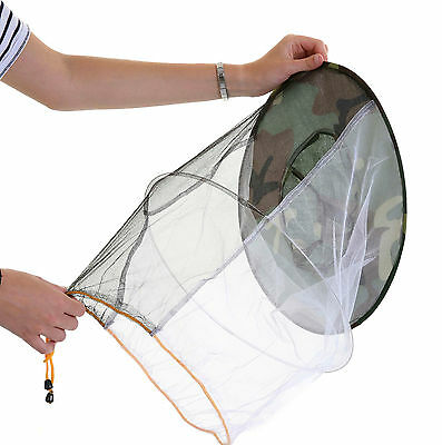 2 x Beekeeping CAMOUFLAGE BEE HAT AND VEILS - Double hoop and toggle 3