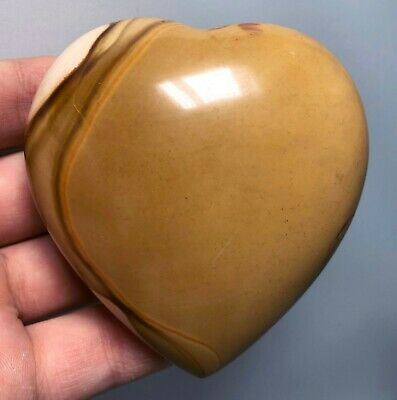 Polished POLYCHROME JASPER HEART Reiki Healing Palm Stone - Madagascar 4