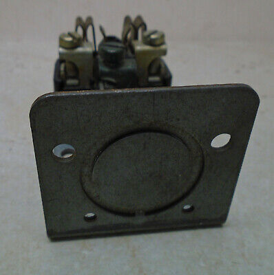 LEVITON 50A 250V Receptacle Surface Mount VTG Bakelite Electric Outlet ART DECO 7
