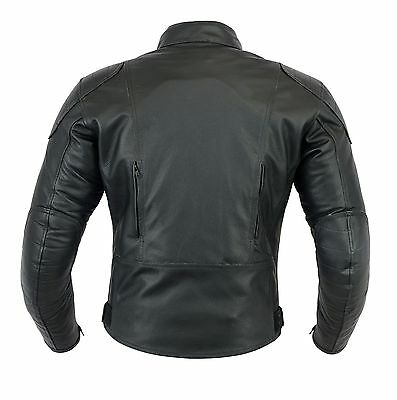 Mens PREMIUM QUALITY CE ARMOUR MOTORCYCLE MOTORBIKE COW LEATHER JACKET