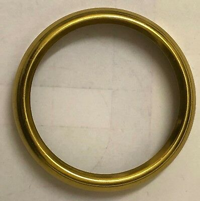 Clock dial bezels, solid brass, polished yellow gold finish, OD 40 - 163mm
