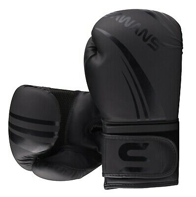 SAWANS® Leather Boxing Gloves Professional MMA Sparring Punch Bag Training Fight 12
