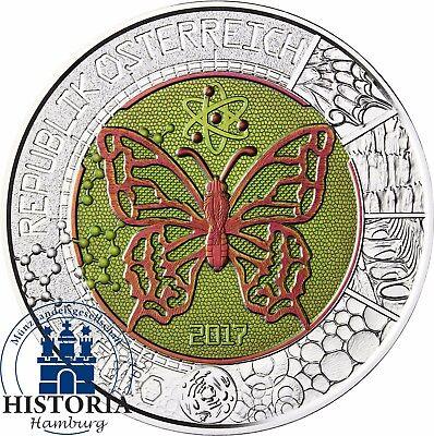 Mikrokosmos Österreich Niob 25 Euro 2017 Silber Münze