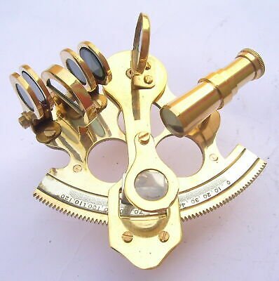 Nautical Ship Instrument Astrolabe Marine Brass Sextant 2.5'' A 6