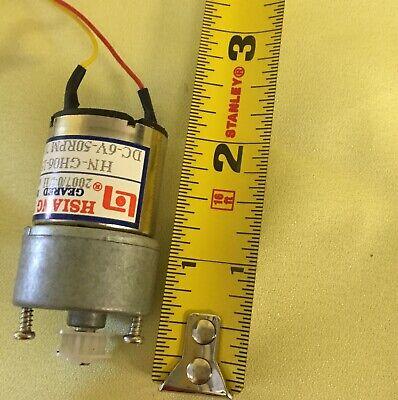 Hsiang Neng Geared Motor HN-GH06-1522Y Head 1.5vDC-12vDC 70:1 50 RPM@6vDC
