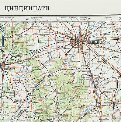 Russian Soviet Military Topographic Maps Sheet Cincinnati Usa