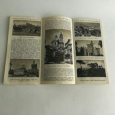 """Vintage 1960's Visitor's Guide Czechoslovakia Tourism 31.5"""" X 8"""" 5"""