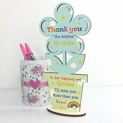 Thank You Wooden Flower Gift For Teacher And Assistant Leaving School Pre School 5