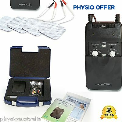 PHYSIO TENS  machine 20 pads, Easy to Use unit, physio support, rebates, chart