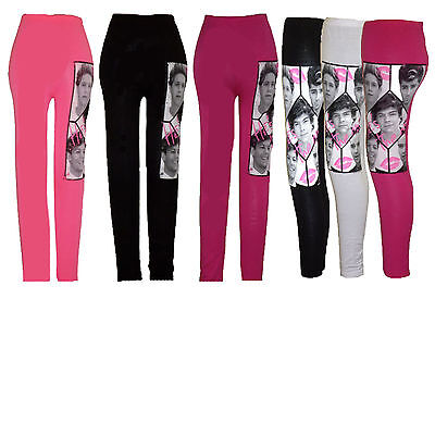ONE DIRECTION 1D LEGGINGS PANTS Age 7 8 9 10 11 12 13 years GIRLS KIDS Stretchy 5