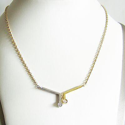 Halskette Gold 585er Brillant Collier 14 kt Anhänger Goldkette Damen Goldschmuck