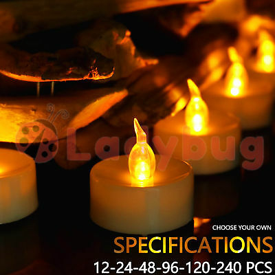 Led Tea Light Candles Tealight Flameless Wedding Battery Included White 4